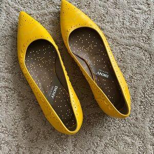 DKNY - Yellow Flats - Size 7